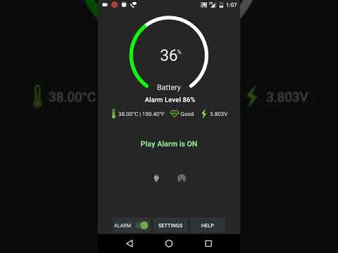 video review of Full Battery Alarm Battery Low Alarm Battery Info