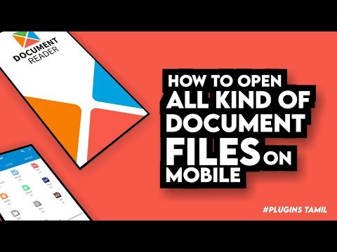 Best Document Reading app | All Kind Documents Files Reader _ Plugins Tamil 2021