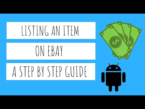 How to List, Sell and Ship an Item on Ebay // Step by Step Guide // Android App