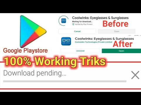 Solution for Download Pending at google playstore   infobandhu