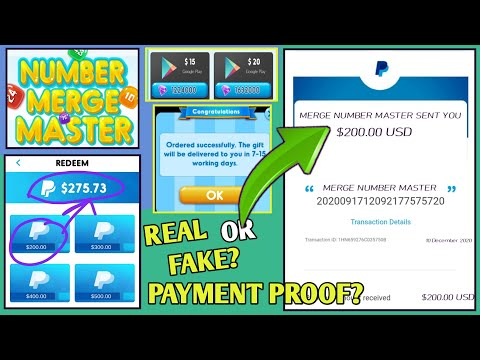 Merge Number Master Payment Proof🤑॥Merge Number Master Real Or Fake॥Merge Number Master Game Cashout