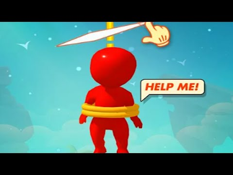 Rope Cut Rescue Hero - Gameplay Walkthrough 1-30 All Levels Solution (ios,Android)