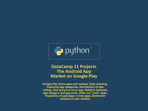 DataCamp 21 Projects Python - The Android App Market on Google Play