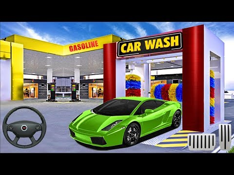 Modern Car Wash Service Centre Gas Station Android Gameplay 2019