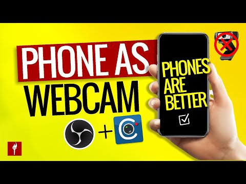 How To Use Your PHONE AS a WEBCAM in OBS for FREE! - Live Streaming App