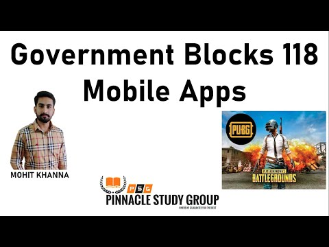 Government Blocks 118 Mobile Apps