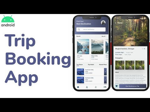 Trip planner and Booking Android App | Android Studio Tutorial