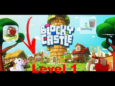 Blocky Castle iOS / Android Gameplay Level 1