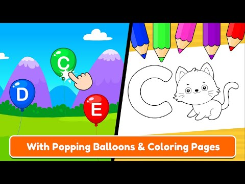 ABC TRACING PHONICS FOR PRESCHOOLERS AND KIDS GAME FREE ABC COLORING PAGES PART 2