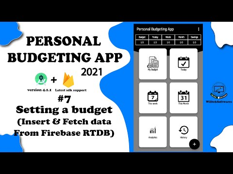Personal Budgeting App -#7- Setting a Budget {INSERTING AND FETCHING DATA TO FIREBASE}