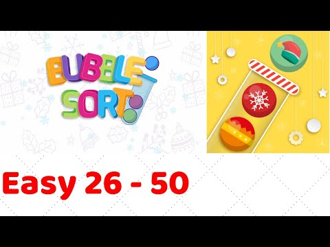 Bubble Sort Color Puzzle Game Level 1-26 to 1-50 Walkthrough (iOS - Android)