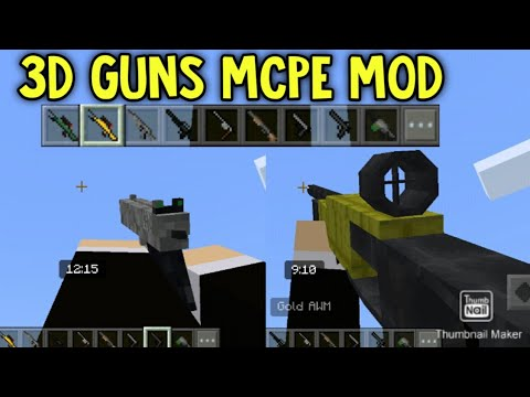 3D GUNS AND WEAPONS MOD MCPE Download