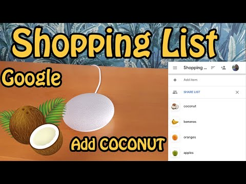 How to use Google Shopping List by Assistant