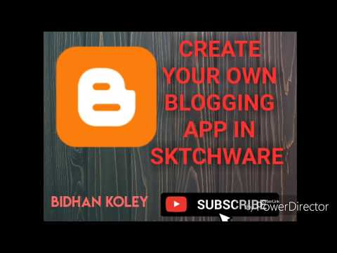 Create your own Blogging app in sktchware //