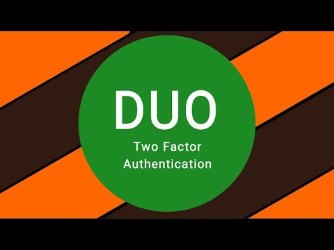Duo Two Factor Authentication Setup