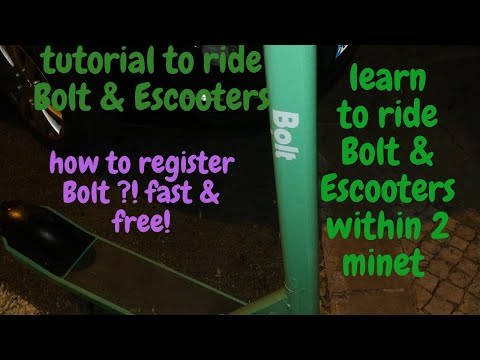 tutorial to register & ride lime bike Escooters Bolt