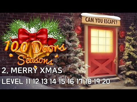 100 Doors Seasons Level 11 12 13 14 15 16 17 18 19 20 Walkthrough - 2. Merry Xmas (Bonbeart Games)