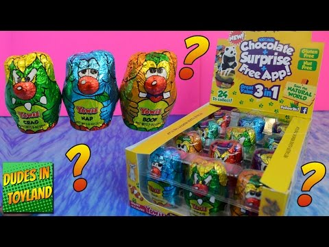"""""""Yowie™ Surprise Inside"""" Chocolate, Surprise, and Free App! choco eggs with animal toys for kids"""