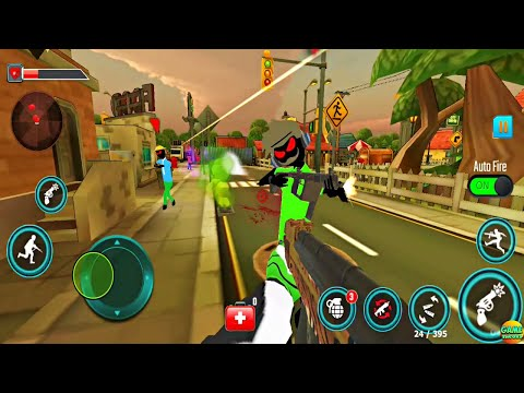 Stickman Battleground Shooting Game CIty Giant Stickman BOSS New Update Android Game
