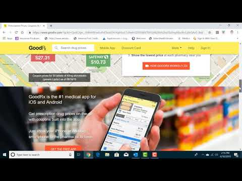 How to use GOODRX to get free prescription coupons!!! (Step by step)