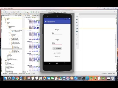 Learn to create a BMI Calculator App for Android