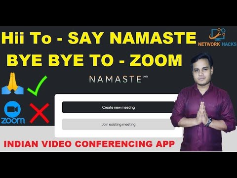 Say Namaste !! Indian Video conferencing App   How to use? For Android and iOS   By Ankit Dubey