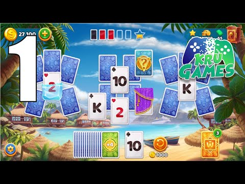 Solitaire Cruise card games: Classic Tripeaks game Gameplay Walkthrough #1 (Android, IOS)