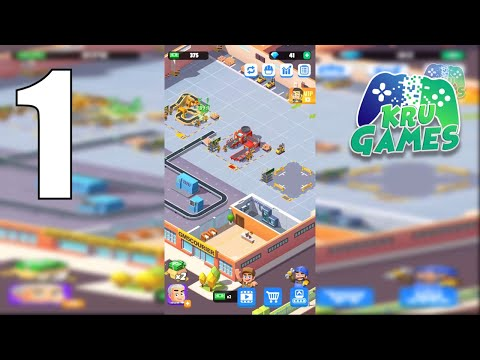 Idle Courier Tycoon - 3D Business Manager Gameplay Walkthrough #1 (Android, IOS)