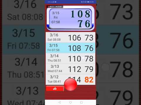 Blood Pressure Tracker (big font) - Android app demo