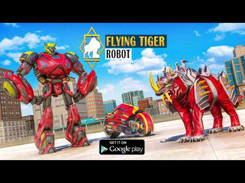 video review of Flying Tiger Robot Car Game