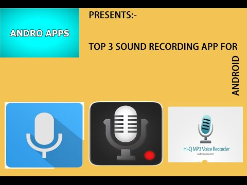Top 3 SOUND RECORDER for Android