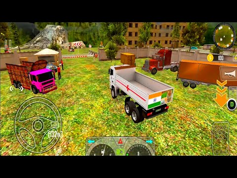 Real Indian Cargo Truck Driver Simulator Game -Forklift - Best Android Gameplay