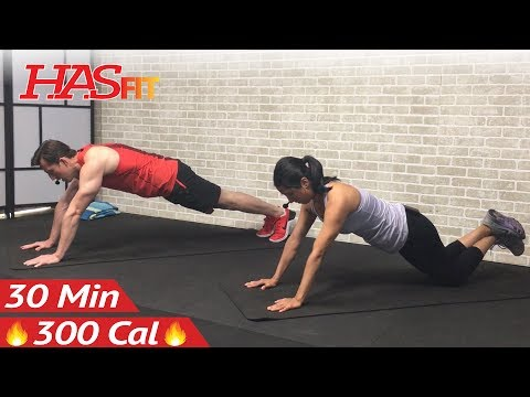 30 Min No Equipment Upper Body Workout without Weights for Women & Men - Arms Chest and Back at Home