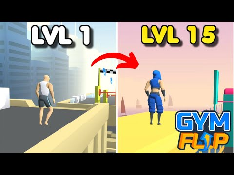 Gym Flip: Show off your Gymnastics Skills – Levels 1-15 | Gameplay #1 (Android & iOS Devices)