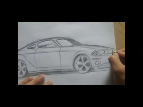 Mustang Car drawing - try to draw now