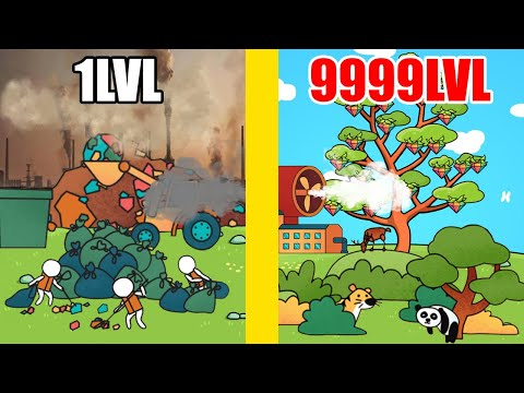 MAX LEVEL ECO PROTECTION in Idle Ecoclicker - Save the EARTH