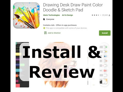Drawing Desk Sketch Pad | Drawing apps review | Alternative drawing app