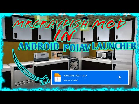 HOW TO INSTALL MRCRAYFISH FURNITURE MOD IN ANDROID EASY POJAV LAUNCHER MINECRAFT JAVA EDITION
