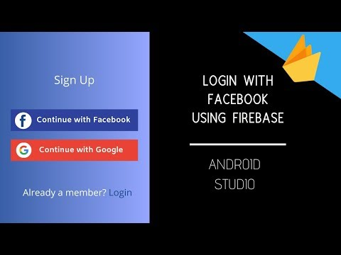 Login With Facebook In Android App Using Firebase | App Development Tutorial
