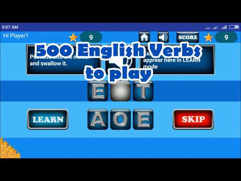 Learn English Verbs - Android Game
