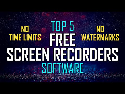 Top 5 Best FREE SCREEN RECORDING Software (No Watermarks)