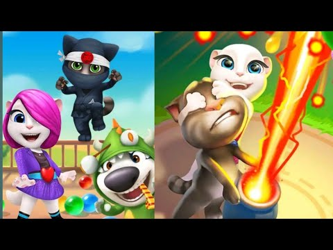 Talking Tom Bubble Shooter  Android gameplay