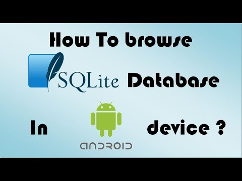 How to view the content of SQLite database tables of a real Android device?
