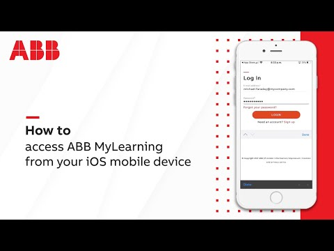 How to access ABB MyLearning from your iOS mobile device?