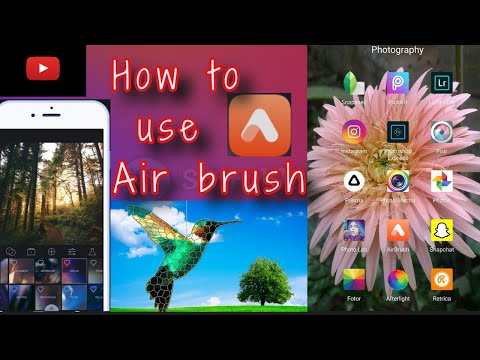 How to use Air Brush App in Android  the best 🔥💯photo editing app📱..