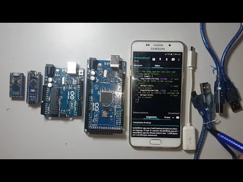 How to program Arduino with android smartphone using arduinodroid android application