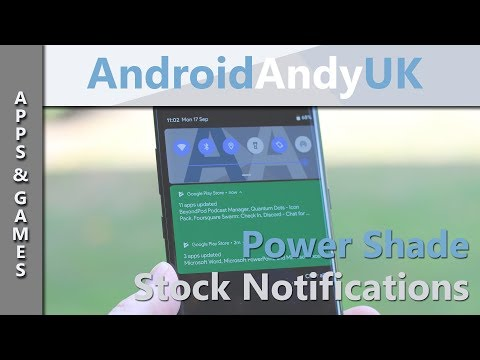 Get A Stock Notification Bar with Power Shade for Android [ No Root ]