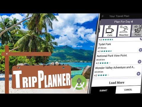 Android Trip Planner App using Android Studio