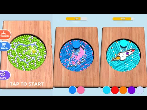 Sorting Beads: Stencil Fill Game Level 41-50