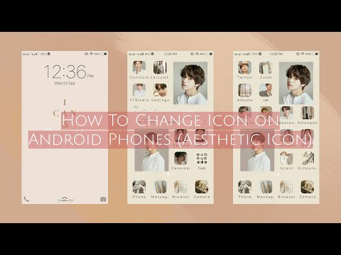 How To Change Icon On Android Phone (Aesthetic Icon)